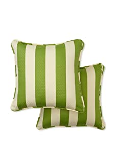 Waverly Set of 2 Sun-n-Shade Solstice Square Decorative Throw Pillows (Cactus)
