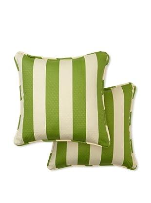Set of 2 Solstice Square Decorative Throw Pillows (Cactus)