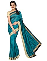 Korni Cotton Silk Banarasi Saree DS-1530- RamaGreen KR0474