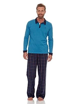Cortefiel Pijama Set (Azul)