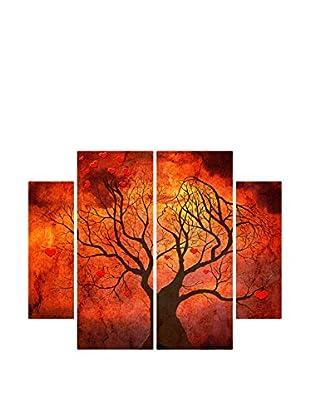 Contemporary Wood Leinwandbild 4er Set Dama Di Cuori