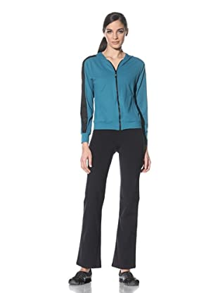 Body Up Women's Piece It Together Jacket (Green/Black)