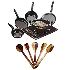 Cookware Set And Kitchen Tool Set - Combo Of 5 Pc