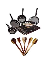 5 pc Cookware Set with free 5 pc wooden kitchen tool