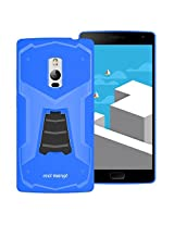 OnePlus Two Back Cover / Case - OnePlus 2 Back Cover / Case - TransArmor TPU Back Cover with Kick Stand for One Plus Two - Cool Blue