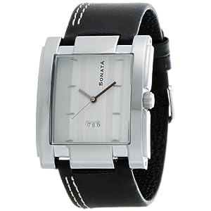 Sonata Yuva Analog White Dial Men's Watch - NF7946SL02A