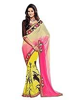 Gopalclothdesigner Georgette Resham Saree (iwgy157_Multicolor)