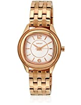 Ny8807 Golden/White Analog Watch
