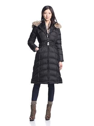 Dawn Levy Women's Addison Down Coat with Fur Trim (Black)