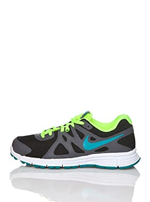 Nike Zapatillas Running Nike Revolution 2 Lgb (Negro / Verde / Gris)