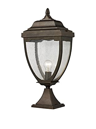 Elk Lighting 27013/1 Brantley Place One Light Outdoor Post Light, Weathered Rust