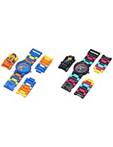 "Lego Kid's Amazon Exclusive 9009679 ""LEGO Movie"" Emmet & Wyldstyle 2 Pack Minifigure Link Watches"