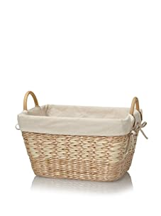 Creative Bath Towel Utility Basket With Liner (Natural/Bleach)