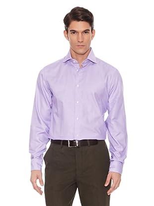 Hackett Camisa Estampada (Blanco / Lila)