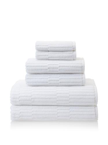 Chortex Oxford 6-Piece Bath Towel Set, White