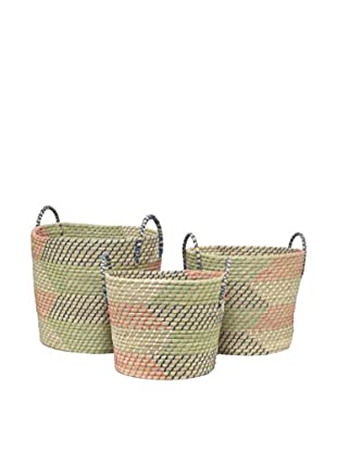 Three Hands Set of 3 Woven Baskets