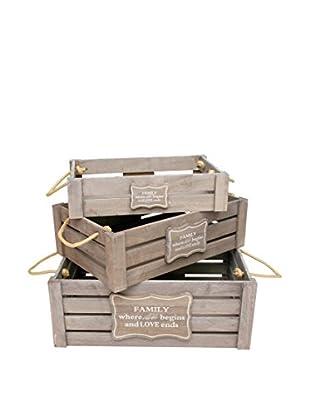 LO+DEMODA Aufbewahrungsbox 3er Set Set Family