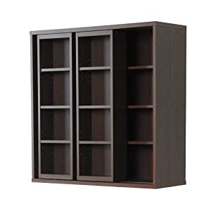 Frama Furniture ダブルスライド 書棚 奥深タイプ ブラウン KSS-0008EBR