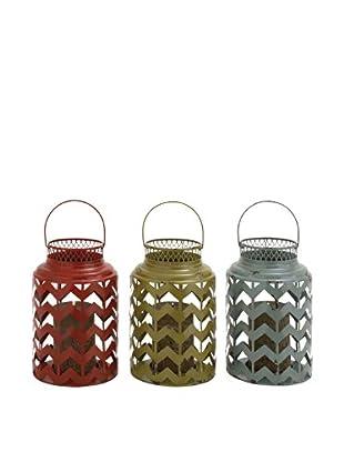 Set of 3 Assorted Geometric Lanterns