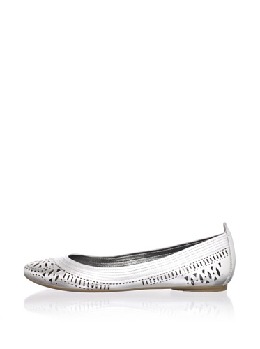 Belle by Sigerson Morrison Women's Andromeda Flat (Silver)