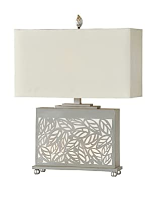 London Table Lamp, Silver Leaf