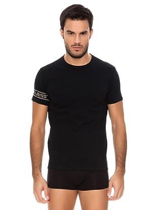 Guess T-Shirt Print (Schwarz)