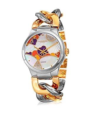 Akribos XXIV Uhr mit japanischem Quarzuhrwerk Woman silberfarben/goldfarben 38 mm