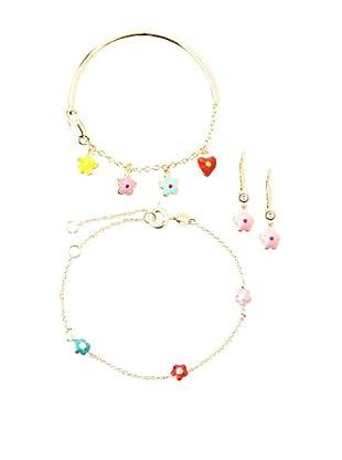 Frida Girl Multicolor Bracelet and Bangle and Earrings Set