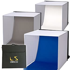 LS deco 撮影ボックス40 【撮影ブース】 ロールタイプ3バリエーション背景付き