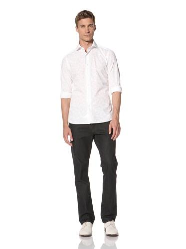 Orian Men's Washed Poplin Shirt (White)
