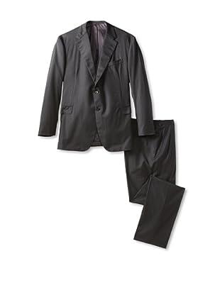 Oxxford Men's Herringbone Suit (Charcoal)