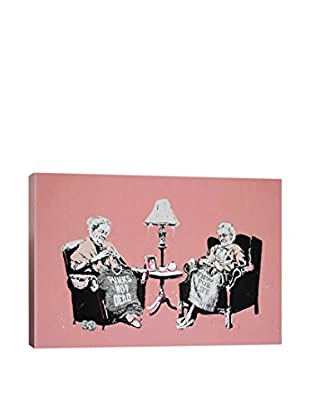 Banksy Punk And Thug Grannies Gallery Wrapped Canvas Print