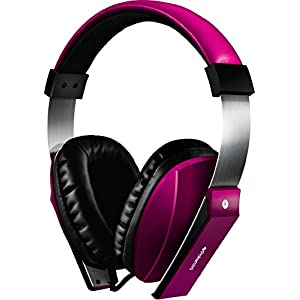 Polaroid PHP8600PK Extra Bass Series Headphone with Noise Isolation and In-line Mic, Pink