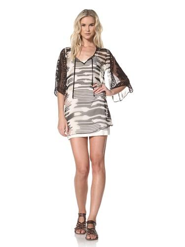 Leyendecker Women's Dee Dee C Bell Sleeve Chiffon Dress (Ikat)