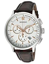 Movado Circa Analogue White Dial Men's Watch - 606576