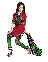 JAVULI pure cotton salwar suit dress material : aarvi-1825