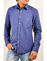 Allen Solly Blue Plain Men Casual Shirt ALSF513C04137