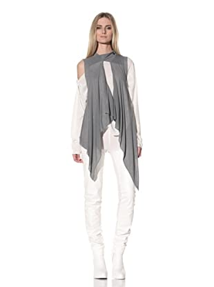 Ann Demeulemeester Women's Draped Vest (Pearl)