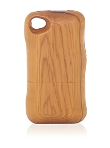 Real Wood iPhone 4/4S Case, Plain, Japanese Yew