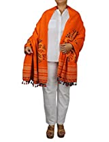 Tie Dye Wool Shawl Handmade Green - Indian Fashion Apparel Accessory 78 X 36 Inch