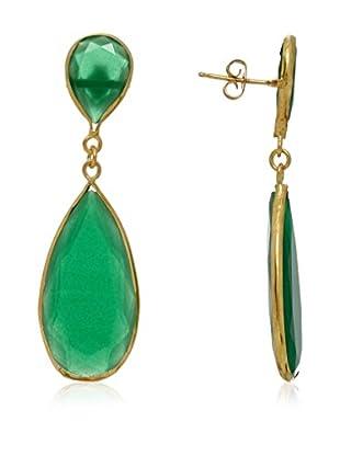 Cordoba Joyeros Pendientes Luxury Esmeralda Oro