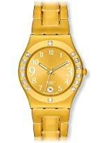 Swatch Analog Gold Dial Women's Watch - YLG404G