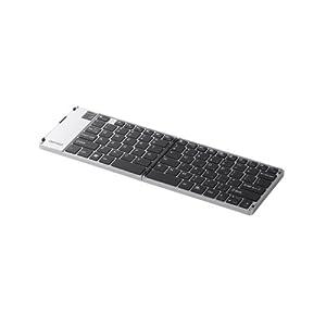 iBUFFALO Bluetooth3.0対応 折りたたみキーボード ケース付き シルバー BSKBB15SV