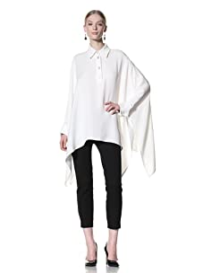Bill Blass Women's Cape with French Cuffs (White)