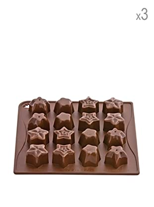Pavoni Set 3 Moldes De Estrellas Para Chocolatinas