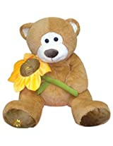 Archies Soft Toy Bear With Flower, Multi Color (54Cm)