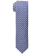 Tommy Hilfiger Men's Deconstructed Zig Zag Print Slim Tie