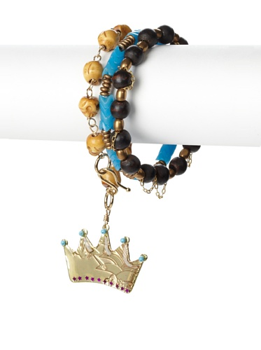 Mercedes Salazar Crown Charm Bracelet Set