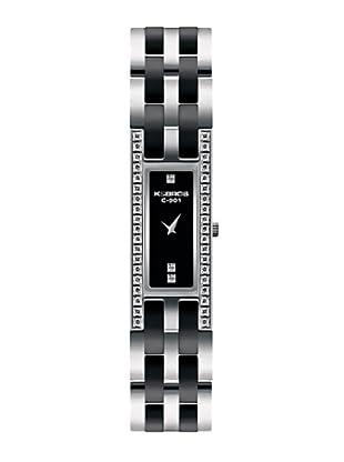 K&BROS 9143-1 / Reloj de Señora  con brazalete metálico negro