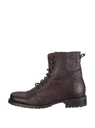 Buffalo London 8006-8115 SAX WAX 119785 - Botas de cuero para mujer (Marrón)